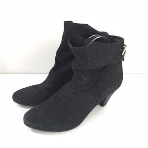 Anthropologie Cynthia Vincent 7.5 Black ankle boot